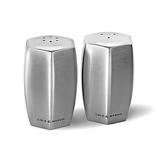 Cole & Mason Lymington Salt & Pepper Stainless Steel Shaker Set alt image 1