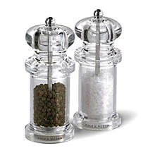 Cole and Mason Clear Acrylic Salt & Pepper  Set
