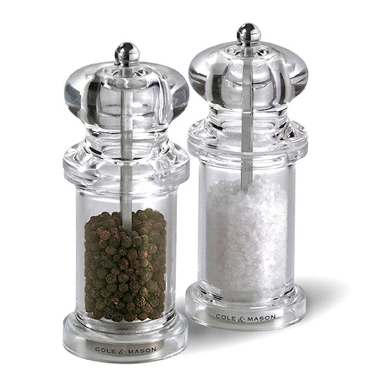 Cole and Mason Clear Acrylic Salt & Pepper