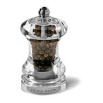 Cole & Mason Clear Precision Grinder Mill - Pepper Ready Filled