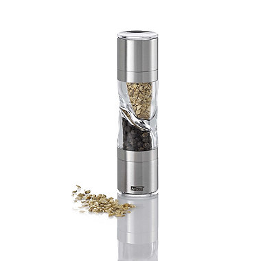 Adhoc Small Stainless Steel Grinder Mill - 2 in 1 Salt & Pepper