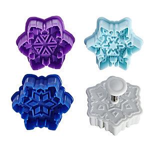 4 Snowflake Cookie Cutters