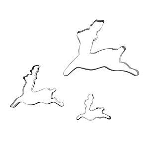 3 Prancing Reindeer Cookie Cutters