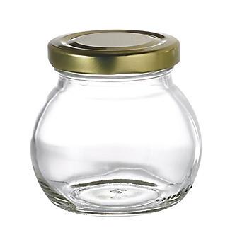 6 Globe Small Gifting Glass Jam Jars & Lids 212ml alt image 2