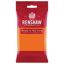 Renshaw Ready to Roll Coloured Icing - 250g Orange
