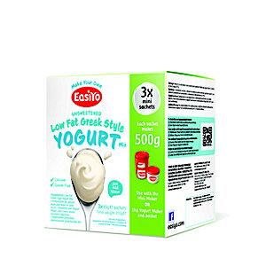 EasiYo Low Fat Greek Style 500g Yogurt Sachet Mix (3 x 85g)