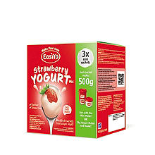 EasiYo Strawberry 500g Yogurt Sachet Mix (3 x 85g)