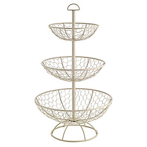Rustic Wire 3 Tier Basket