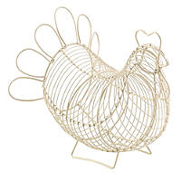Rustic Wire Small Chicken Egg Basket