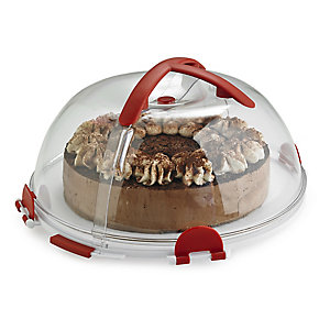 Fold 'n' Store Cake Carrier Caddy & Clear Lid - Round 31cm Cakes