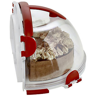 Fold 'n' Store Cake Carrier Caddy & Clear Lid - Round 31cm Cakes alt image 2