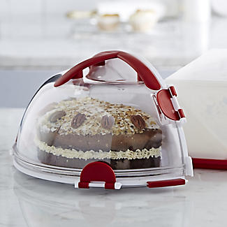 Fold 'n' Store Cake Carrier Caddy & Clear Lid - Round 31cm Cakes alt image 4
