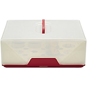 Chef'n® Sugar Cube Cake Carrier Caddy & Lid - Oblong 12 Cupcakes