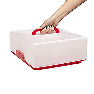 Chef'n® Sugar Cube Cake Carrier Caddy & Lid - Oblong 12 Cupcakes alt image 4