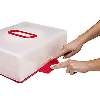 Chef'n® Sugar Cube Cake Carrier Caddy & Lid - Oblong 12 Cupcakes alt image 5