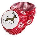 75 Prancing Reindeer Cupcake Cases