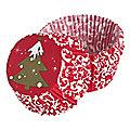 75 Christmas Tree Cupcake Cases