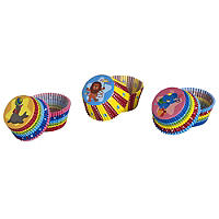 75 Greaseproof Cupcake cases - Circus Colour Theme
