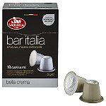 10 Saquella Bar Italia Coffee Pods - Crema Espresso (Fits Nespresso)