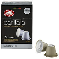 10 Saquella Bar Italia Coffee Pods - Crema