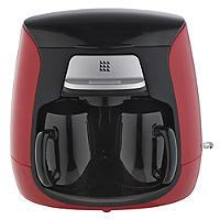 Lakeland Red 2-Cup Compact Filter Coffee Machine