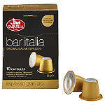 10 Saquella Bar Italia Coffee Pods - Espresso Cru (Fits Nespresso)