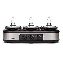 Bella® Cook and Serve 3 Pot Slow Cooker