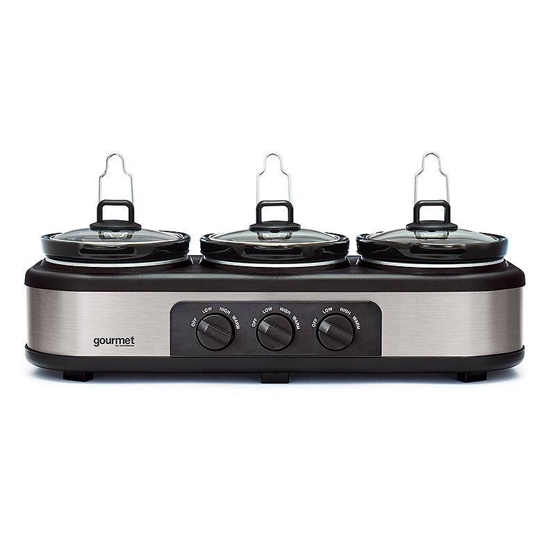 Bella® Cook and Serve 3 Pot Slow Cooker