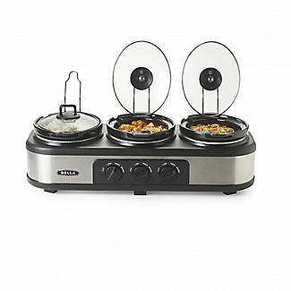 Bella® Cook and Serve 3 Pot Slow Cooker alt image 5