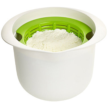 Lékué Microwave Cookware - Green & White Cheese Maker