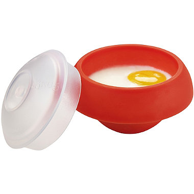 Lékué Microwave Cookware - Red Poached Egg & Omelette Cooker