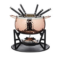 Artesa Hand-Finished Copper Effect Fondue Set