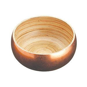 Artesa Medium Bamboo Serving Bowl with Copper Finish