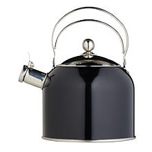 Classic Collection Vintage 2.3 L Black Whistling Stovetop Kettle