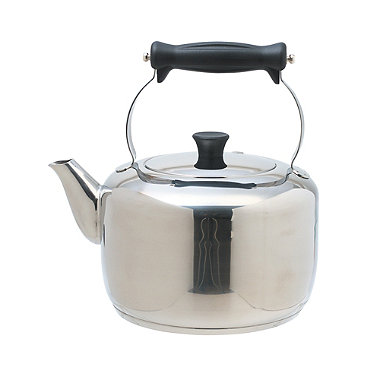Masterclass Farmhouse Style 2L Stainless Steel Stovetop Kettle