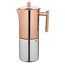 Le'Xpress Copper Finish Stovetop Espresso Maker