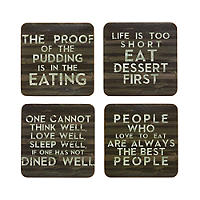 Slogan Place Mat & Coaster Set