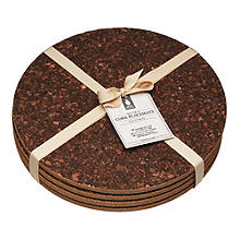 Natural Elements Cork Place Mat & Coaster Set