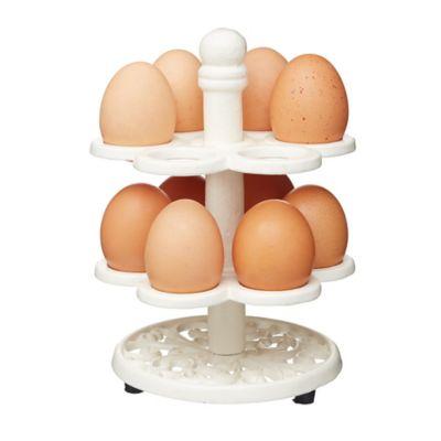 Countertop Egg Holder : Kitchen Craft Vintage Cast Iron Egg Holder