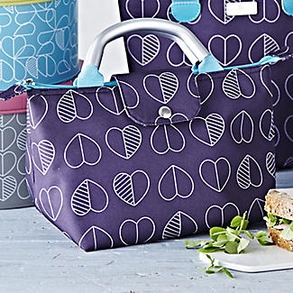 Purple Hearts Insulated Lunch Tote Bag 4L