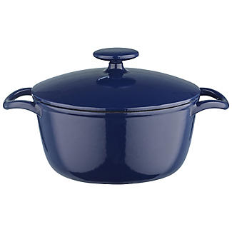 20cm Midnight Blue Round Cast Iron Casserole