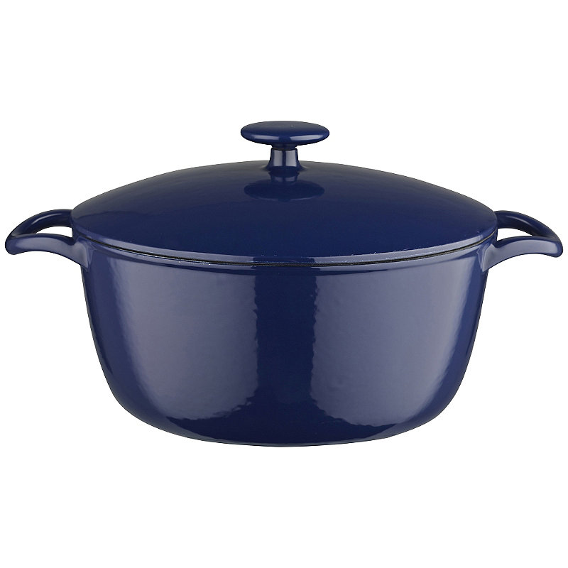 26cm Midnight Blue Cast Iron Casserole