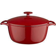 Lakeland 26cm Paprika Red Cast Iron Casserole