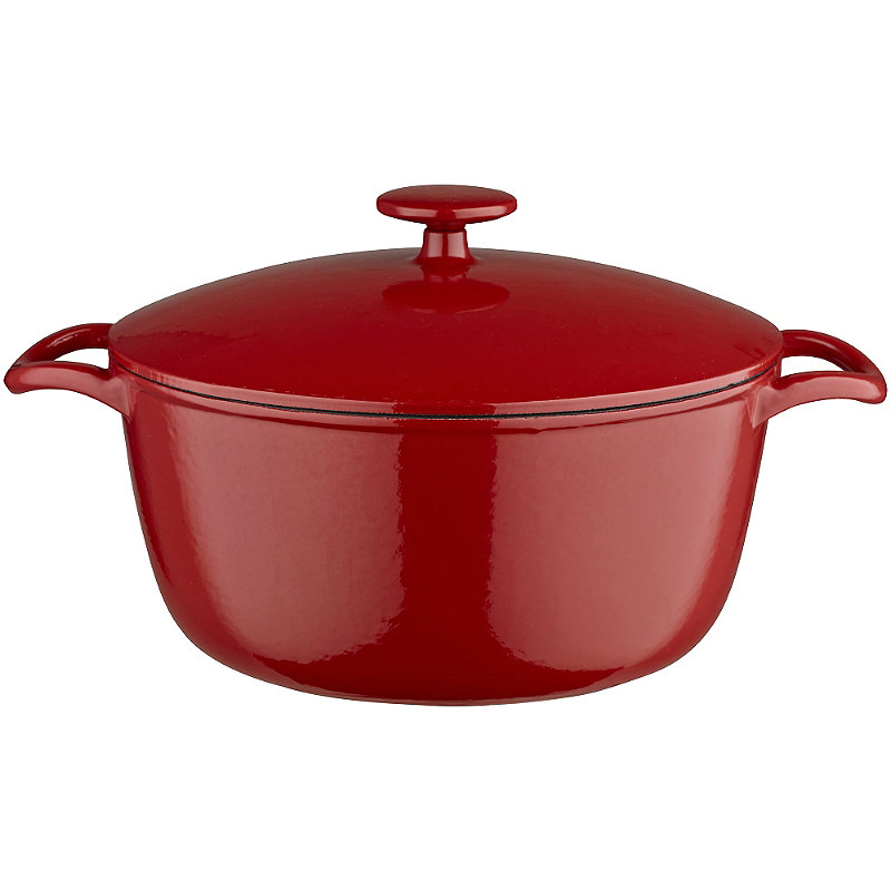 26cm Paprika Red Cast Iron Casserole