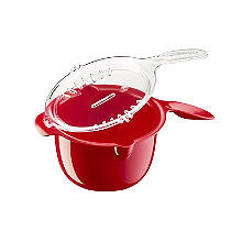 Microwave Cookware Stain Proof - Red Lidded Saucepan 0.9L