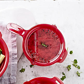 Microwave Cookware Stain Proof - Red Lidded Saucepan 0.9L alt image 2