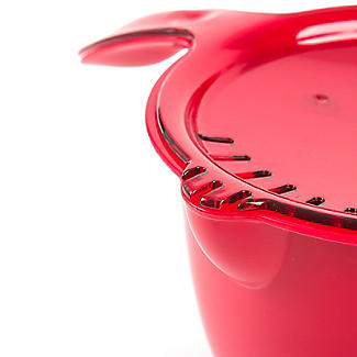 Microwave Cookware Stain Proof - Red Lidded Saucepan 1.2L alt image 2