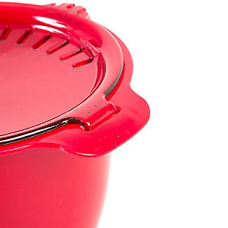 Microwave Cookware Stain Proof - Red Lidded Saucepan 1.2L alt image 3