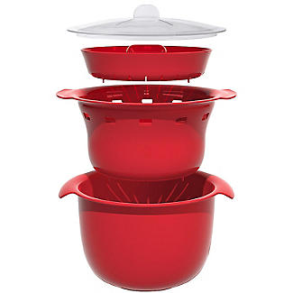 Microwave Cookware Stain Proof - Red Multi Steamer