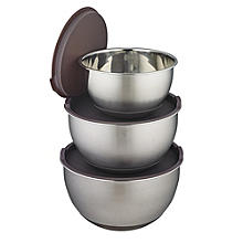 Mary Berry's 3 Stainless Steel Mixing Bowls